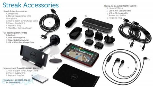 Accessoires du Dell Streak 5